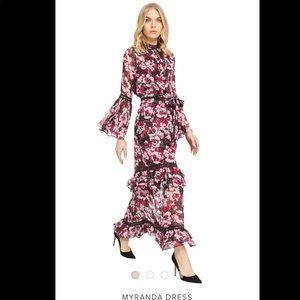 Misa Los Angeles Myranda Floral Maxi Dress Small